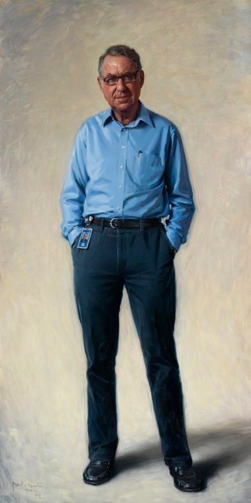 Portrait of David Gonski AC, 2012 by Paul Newton