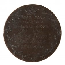 Convict love token from J. Waldon, 1832