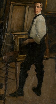 Self portrait (Full Length in front of Easel), 1901-02 Hugh Ramsay