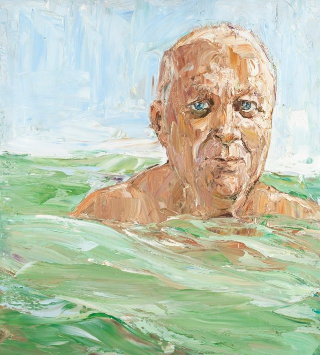 Robert Drewe (in the swell), 2006 by Nicholas Harding