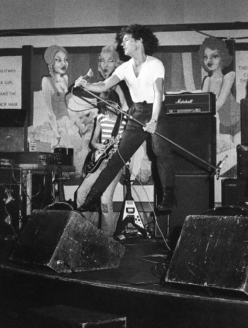 Ross Wilson performing with Ross Wilson's Mondo Rock, as his band was known then, at the Sylvania Hotel, 1978 Stuart Spence