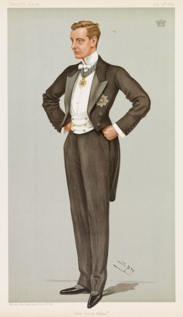 """New South Wales"" (Earl Beauchamp) (Image plate from Vanity Fair), 1899 Sir Leslie Ward"