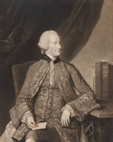 John Montagu, 4th Earl of Sandwich, c.1774 by Valentine Green after Johann Zoffany
