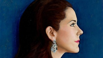 Study for commissioned portrait of HRH Crown Princess Mary of Denmark (profile head study), 2005 Jiawei Shen
