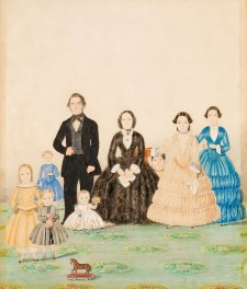 George and Jemima Billet with family, c.1852 by C.H.T. Costantini