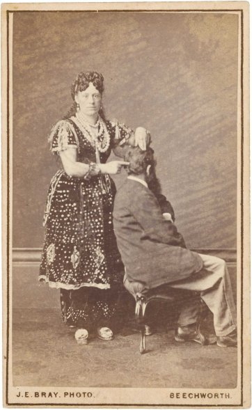 Madame Sibly, Phrenologist and Mesmerist, 1870's by James E. Bray