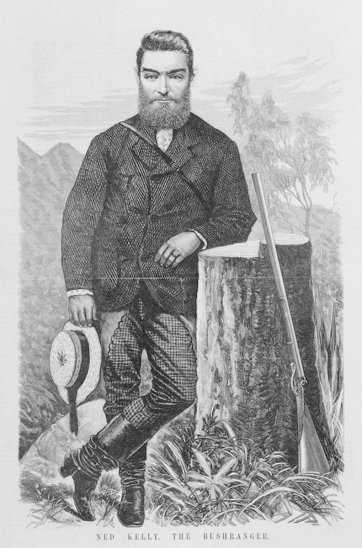 Ned Kelly the Bushranger (from The Australasian Sketcher, 7 August 1880) an unknown artist