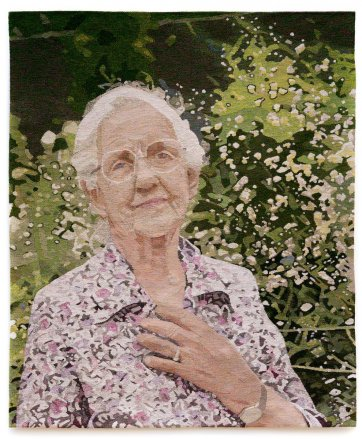 Portrait of Dame Elisabeth Murdoch, 2000 by Victorian Tapestry Workshop