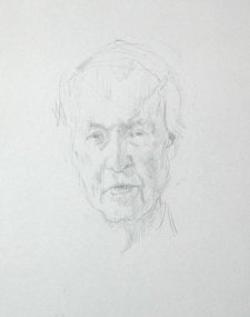 Study for portrait of Frank Fenner AC CMG MBE, 2007 by Jude Rae