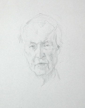 Study for portrait of Frank Fenner AC CMG MBE, 2007 Jude Rae