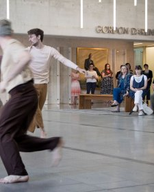 Dancing in the Gordon Darling Hall
