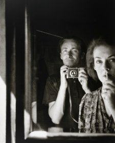 In the mirror: self portrait with Joy Hester, 1939 Albert Tucker