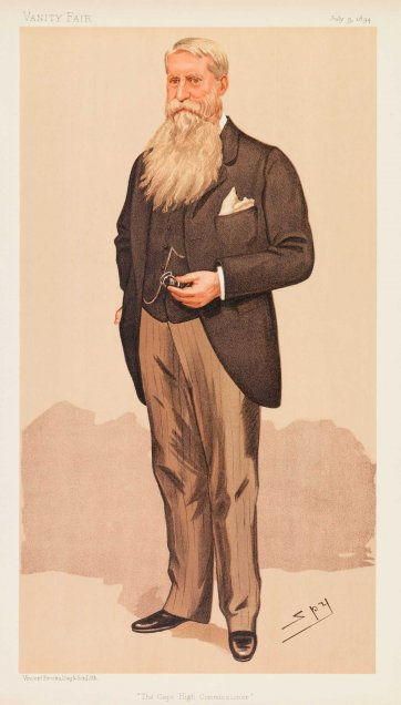 """The Cape High Commissioner"" (Sir Henry Brougham Loch) (Image plate from Vanity Fair), 1894 Sir Leslie Ward"
