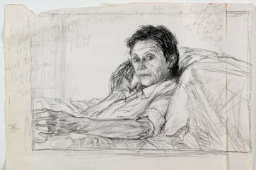 Study for portrait of Helen Garner, 2003 Jenny Sages