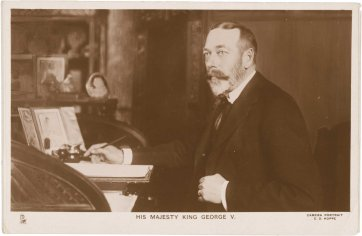 H.M. King George V at his desk, c. 1921 E.O. Hoppé, Raphael Tuck and Sons Ltd