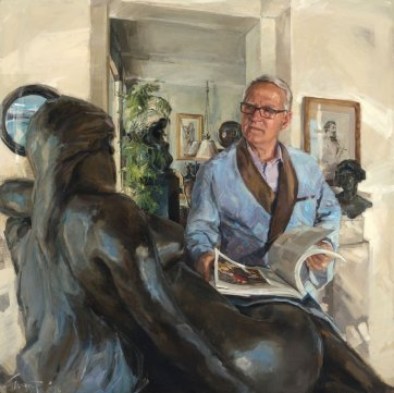 John Schaeffer AO - art collector and philanthropist, 2014 by Evert Ploeg
