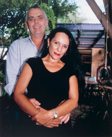 Linda Burney MLA Canturbury and Rick Farley at home, Marrickville, 2003 Juno Gemes