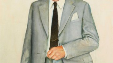 First study for portrait of Malcolm Fraser, 1981 Bryan Westwood