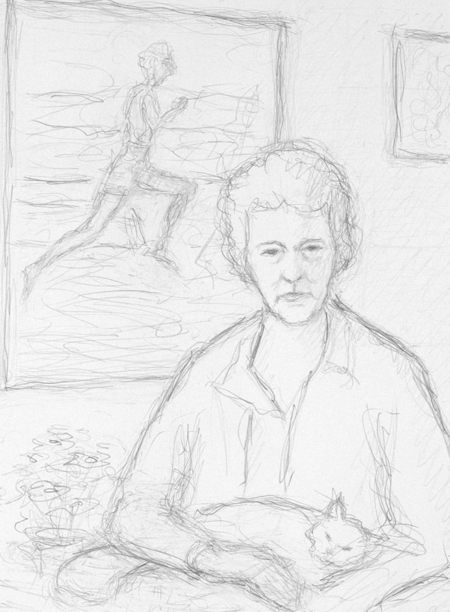 Preparatory study for Betty Cuthbert