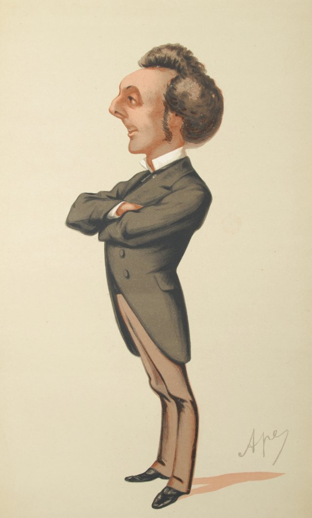 Caricature of HE Governor John Pope Hennessy CMG, 1875 by Carlo Pellegrini