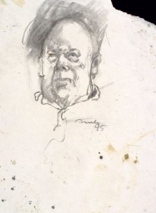 Study for portrait of Les Murray, 1995 David Naseby