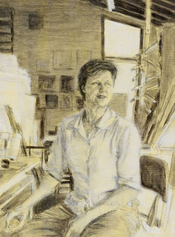 Study (d) for portrait of Helen Garner, 2003 Jenny Sages