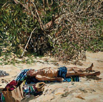 Beached (Yuraygir self-portrait), 2015 by Nicholas Harding