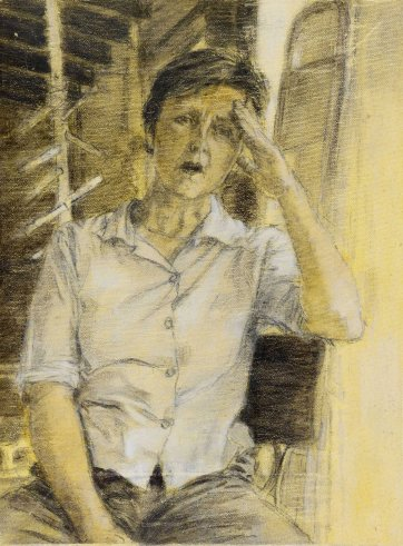 Study (b) for portrait of Helen Garner, 2003 Jenny Sages