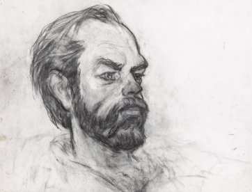 Profile of Hugo Weaving, 2011 by Nicholas Harding