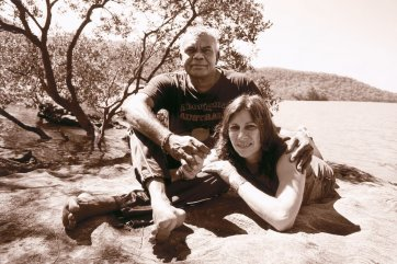 Ali Cobby Eckermann and Lionel Fogarty at the Hawkesbury River, 2014 Juno Gemes