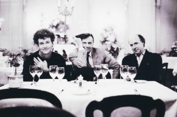 Michael Leunig, Barry Humphries and John Clarke at Mietta's, 1989 (printed 2013) Helga Leunig