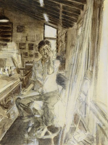 Study (c) for portrait of Helen Garner, 2003 Jenny Sages