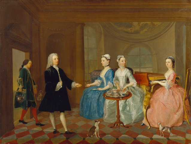 A Family Being Served with Tea, ca. 1745 by an unknown artist