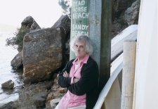 Poet Robert Adamson at Parsely Bay, 2008 by Juno Gemes