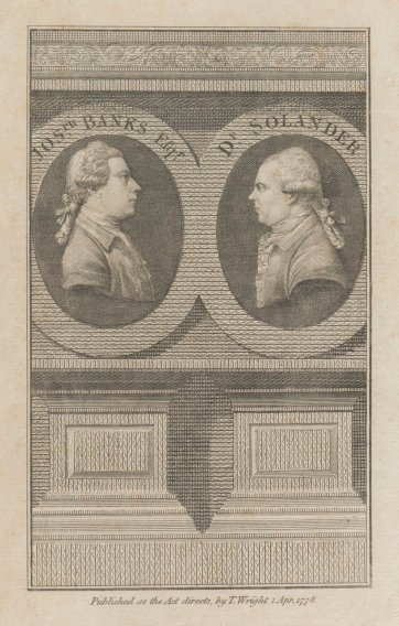 Joseph Banks and Dr Solander, 1778 by Unknown