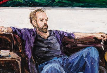 Hugo at home (Hugo Weaving), 2011 Nicholas Harding