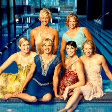 The golden girls: Jodie Henry, Lisbeth 'Libby' Trickett (née Lenton), Giaan Rooney, Alice Mills, Brooke Hanson, Liesel Jones, 2004 by Robin Sellick