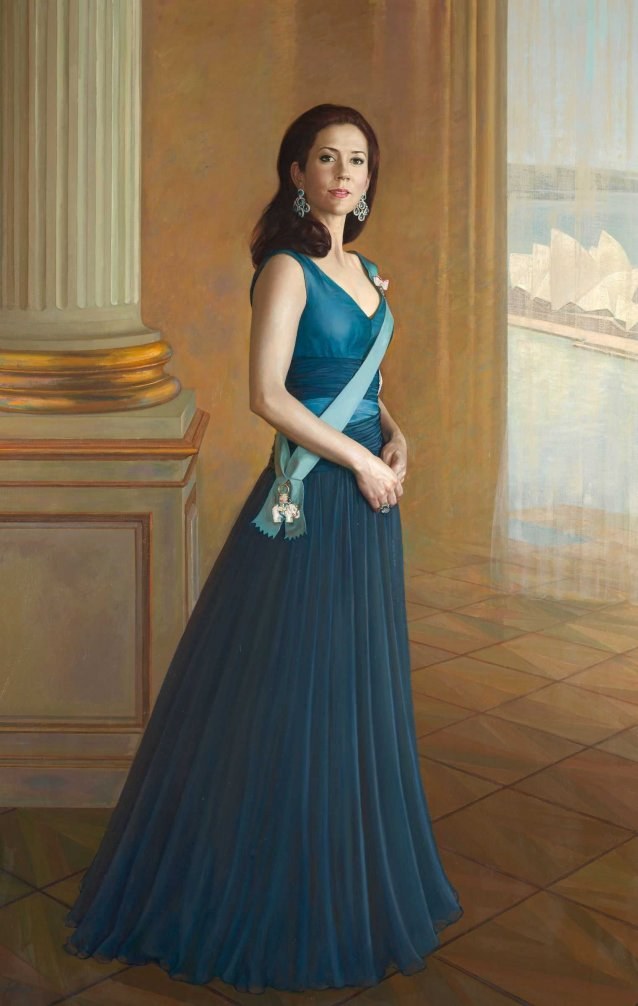 Portrait of HRH Crown Princess Mary of Denmark